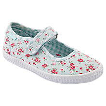 Buy Start-rite Posy Floral Canvas Shoes, Turquoise/White Online at johnlewis.com