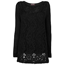 Buy Phase Eight Lace Front Joplin Top, Black Online at johnlewis.com