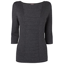 Buy Phase Eight Hetty Panel Top, Grey Online at johnlewis.com