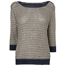 Buy Phase Eight Selma Jumper, Navy Online at johnlewis.com