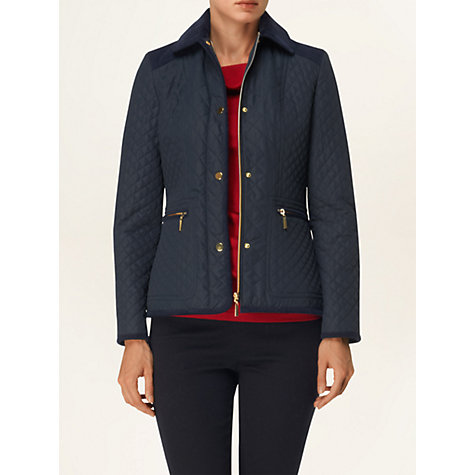 Buy Phase Eight Linda Wadded Jacket, Navy Online at johnlewis.com