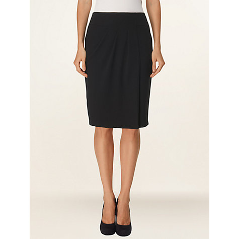 Buy Phase Eight Jamie Crepe Skirt, Black Online at johnlewis.com