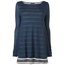 Buy Phase Eight Double Layer Top, Navy/Grey Online at johnlewis.com