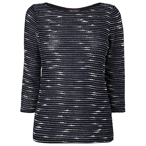 Buy Phase Eight Tweedy Stripe Top, Indigo Online at johnlewis.com