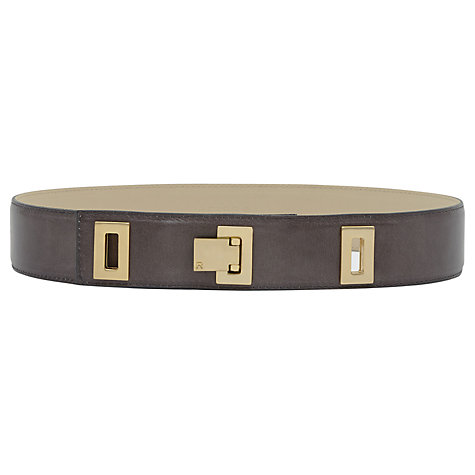 Buy Reiss Drop Lock Belt, Graphite Online at johnlewis.com