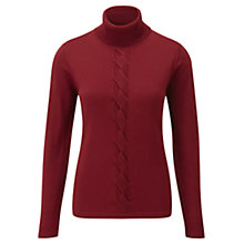 Buy Viyella Plait Front Jumper, Garnet Online at johnlewis.com