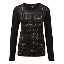 Buy Viyella Studded Jumper, Black Online at johnlewis.com