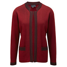 Buy Viyella Crochet Trim Cardigan, Garnet Online at johnlewis.com