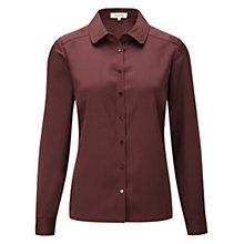 Buy Viyella Stitch Detail Blouse, Dark Chianti Online at johnlewis.com