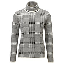 Buy Viyella Dogtooth Jumper, Black Online at johnlewis.com