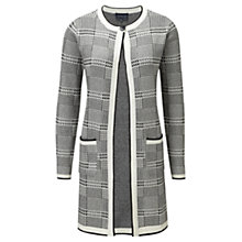 Buy Viyella Dogtooth Cardigan, Black Online at johnlewis.com