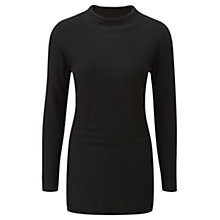 Buy Viyella Funnel Neck Jumper, Black Online at johnlewis.com