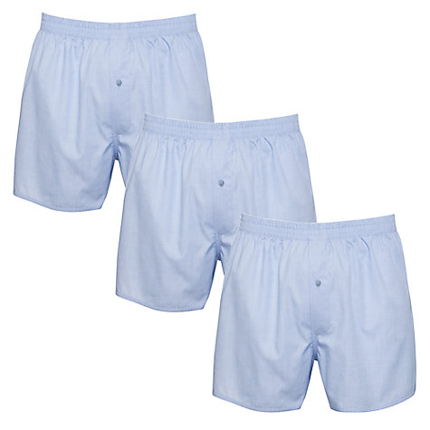 Buy John Lewis Woven Boxer Shorts, Blue Online at johnlewis.com