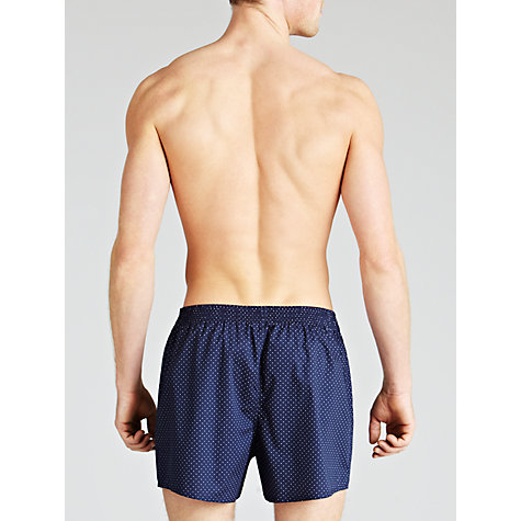 Buy John Lewis Spots and Stripes Woven Boxer Shorts, Pack of 3, Blue/Grey Online at johnlewis.com