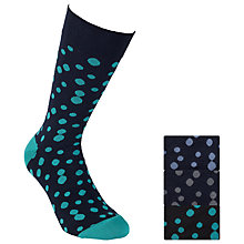 Buy John Lewis Digital Spots Socks, Pack of 3, Multi Online at johnlewis.com