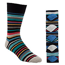 Buy John Lewis Multi Stripe Socks, Pack of 5, Multi Online at johnlewis.com