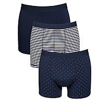 Buy John Lewis Cotton Multi Design Trunks, Pack Of 3, Navy Online at johnlewis.com