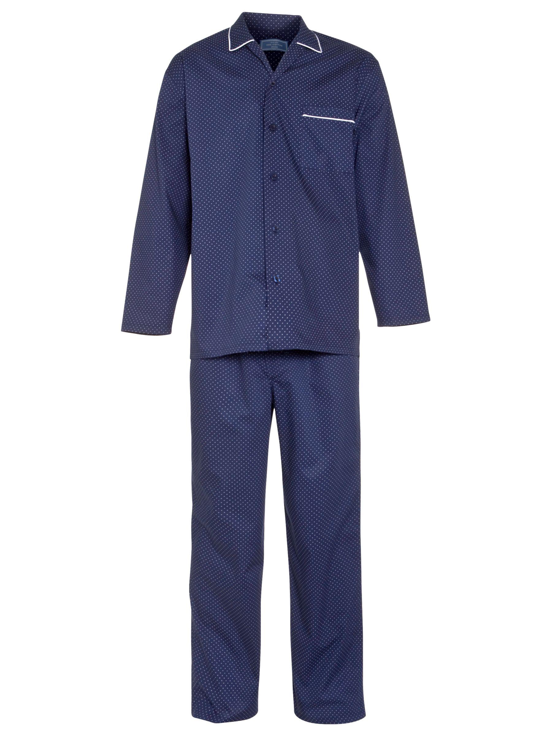 John Lewis Woven Spot Pyjamas, Navy