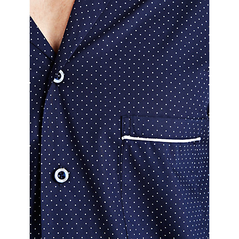 Buy John Lewis Woven Spot Pyjamas, Navy Online at johnlewis.com