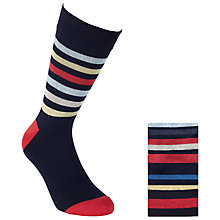 Buy John Lewis Striped Socks, Pack of 3, Multi Online at johnlewis.com
