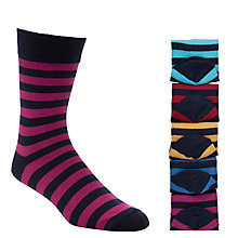 Buy John Lewis Rugby Stripe Socks, Pack of 5, Navy/Multi Online at johnlewis.com