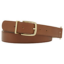 Buy Reiss Portia Leather Jeans Belt, Tan Online at johnlewis.com
