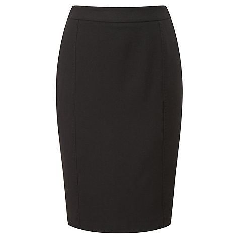 Buy Viyella Crepe Pencil Skirt, Black Online at johnlewis.com