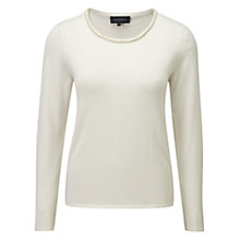 Buy Viyella Plait Knit Jumper, Ivory Online at johnlewis.com