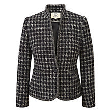 Buy Viyella Tweed Dogtooth Jacket, Black/Ivory Online at johnlewis.com