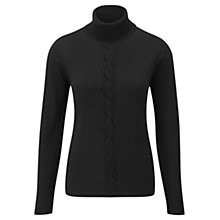 Buy Viyella Plait Front Jumper, Black Online at johnlewis.com