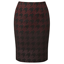 Buy Viyella Dogtooth Ombre Pencil Skirt, Black/Red Online at johnlewis.com