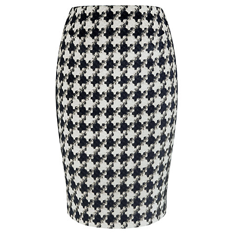 Buy Viyella Dogtooth Tweed Pencil Skirt, Black/Ivory Online at johnlewis.com