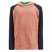 Buy John Lewis Boy Hooded Stripe Top, Red/Navy Online at johnlewis.com