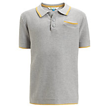 Buy John Lewis Boy Knitted Short Sleeve Polo Shirt, Grey Online at johnlewis.com