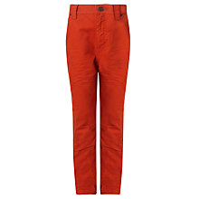Buy John Lewis Boy Twisted Carrot Trousers, Red Online at johnlewis.com