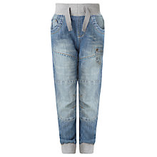 Buy John Lewis Boy Elasticated Denim Jeans, Blue Online at johnlewis.com