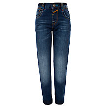 Buy John Lewis Boy Tapered Denim Jeans, Dark Blue Online at johnlewis.com