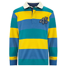 Buy John Lewis Boy Bold Stripe Rugby Top, Blue/Yellow/Teal Online at johnlewis.com