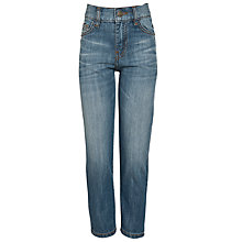 Buy John Lewis Boy Straight Leg Denim Jeans, Light Blue Online at johnlewis.com