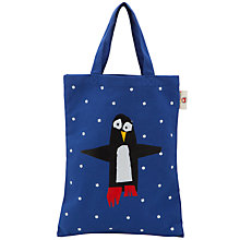 Buy Kids Company Penguin Shopper Bag, Blue Online at johnlewis.com