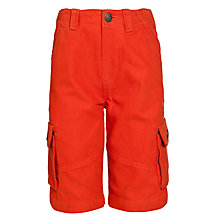 Buy John Lewis Boy Cargo Shorts, Red Online at johnlewis.com