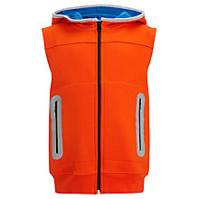 Buy John Lewis Boy Zip-Through Gilet, Orange/Blue Online at johnlewis.com