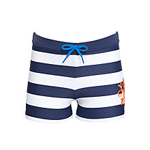 Buy John Lewis Boy Octopus Swimming Trunks, Blue Online at johnlewis.com