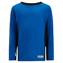 Buy John Lewis Boy Panel Detail Long Sleeve Top, Blue/Black Online at johnlewis.com