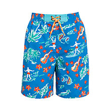 Buy John Lewis Boy Surfer Board Shorts, Blue Online at johnlewis.com