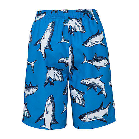 Buy John Lewis Boy Shark Board Shorts, Blue Online at johnlewis.com