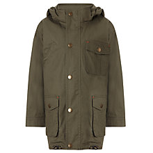 Buy John Lewis Boy Hooded Parker Coat, Green Online at johnlewis.com