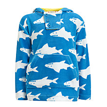 Buy John Lewis Boy Shark Poncho, Blue Online at johnlewis.com