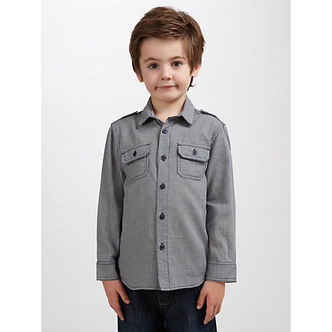 Buy John Lewis Boy Long Sleeve Utility Shirt, Blue Online at johnlewis.com