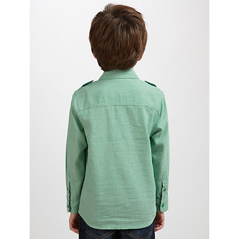 Buy John Lewis Boy Long Sleeve Utility Shirt, Green Online at johnlewis.com